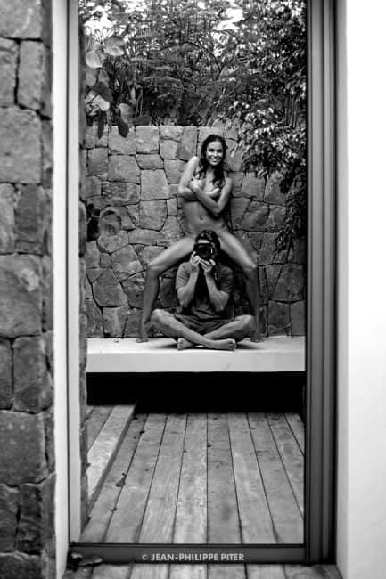 Self-portrait with Dora, St-Barth