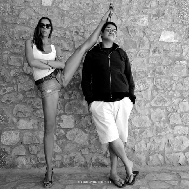 Julie Bruyere and assistant Mathieu Pham Greece, 2012
